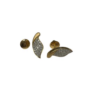 Diamond Leaf Earrings