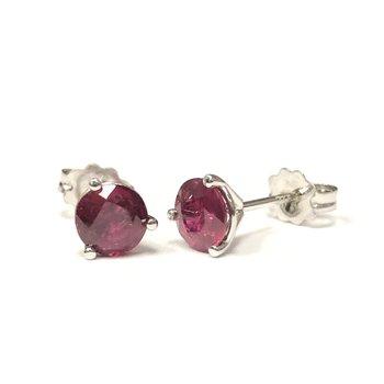 1.38 Carat Ruby Stud Earrings