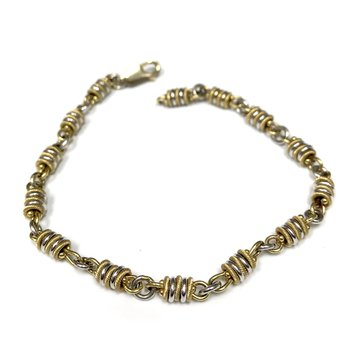 10k Two Tone Bracelet