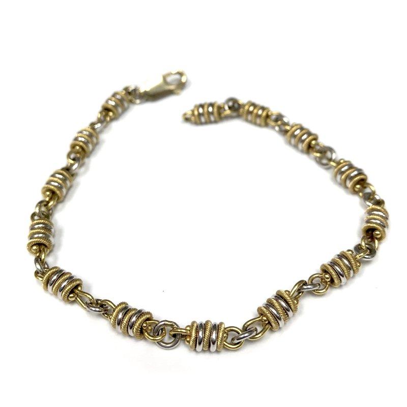 Antique, Estate & Consignment 10k Two Tone Bracelet