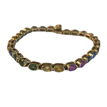 Rainbow Sapphire Tennis Bracelet