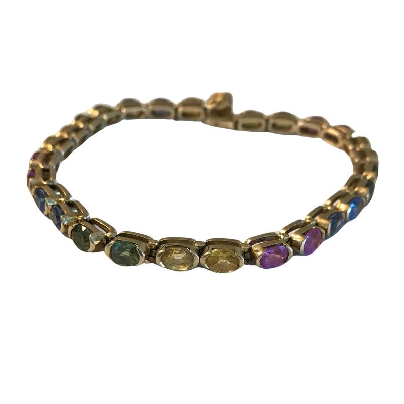 Antique, Estate & Consignment Rainbow Sapphire Tennis Bracelet