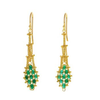 Emerald Drape Earrings