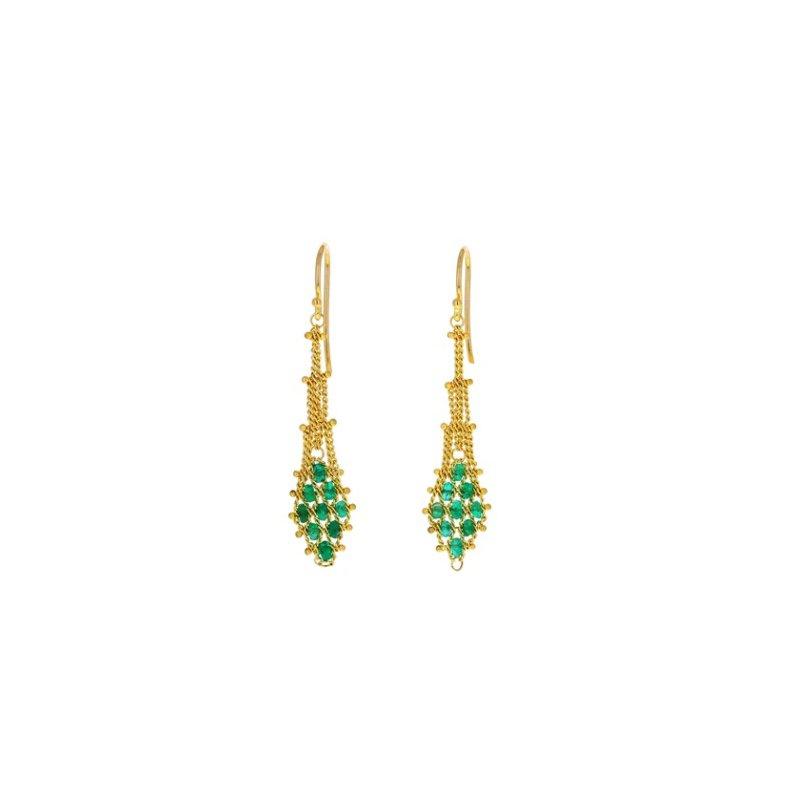 Amali Emerald Drape Earrings