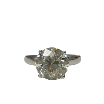 4.03 Old European Cut Solitaire Diamond Ring