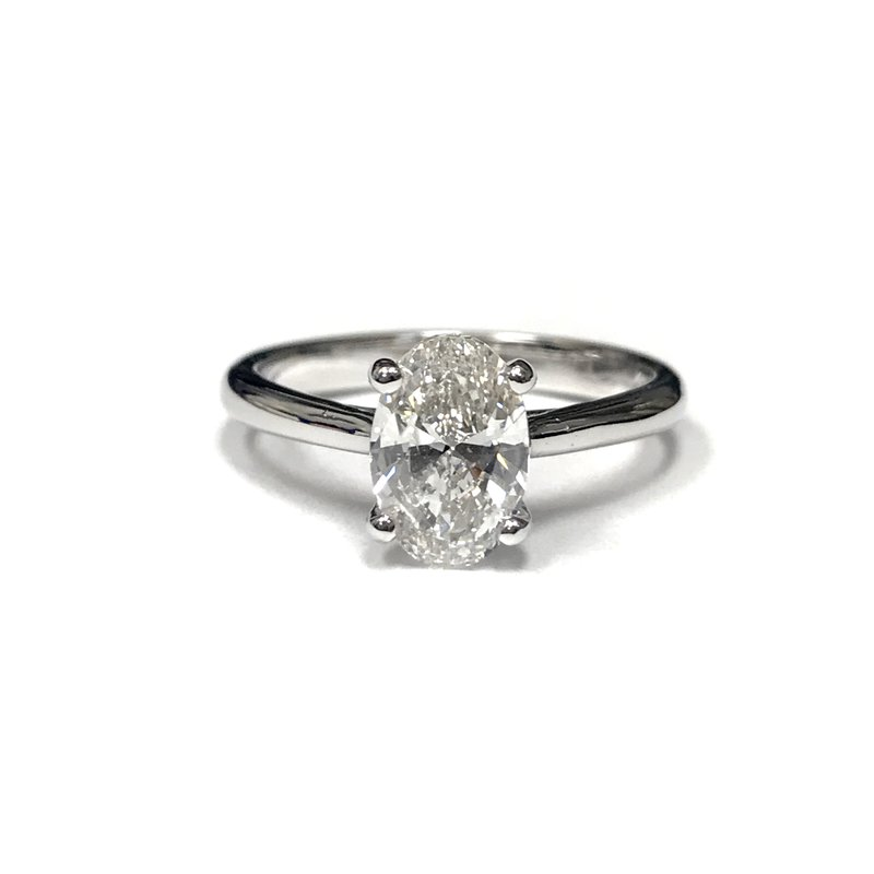 Hurdle's Jewelry Collection 1.44 Carat Oval Diamond Engagement Ring