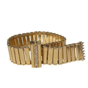 Diamond & Gold Adjustable Link Bracelet