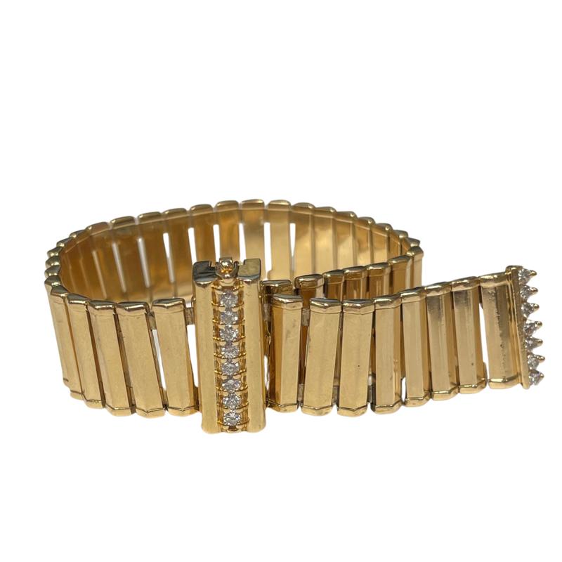 Antique, Estate & Consignment Diamond & Gold Adjustable Link Bracelet
