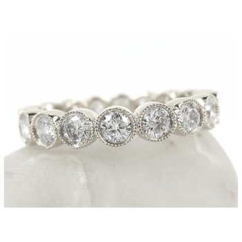 2.56 Carat Bezel Set Diamond Eternity Band BD0787