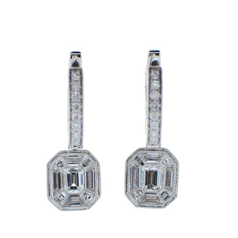 Madison L Baguette Diamond Drop Earrings