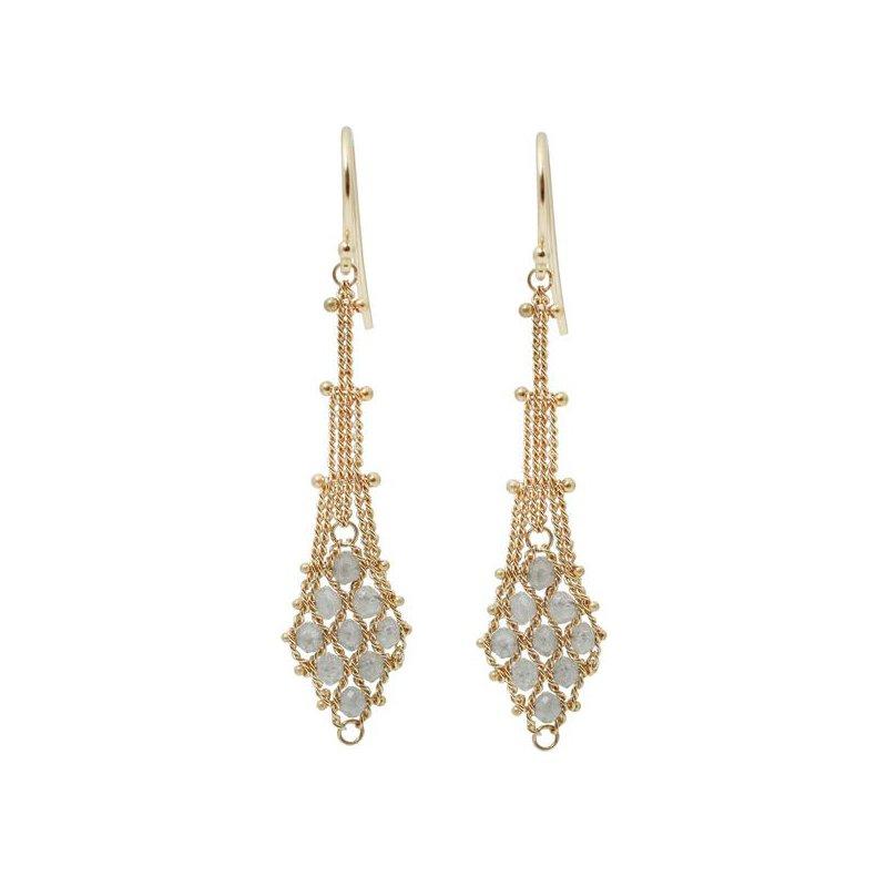 Amali Silver Diamond Textile Earrings