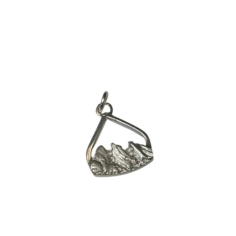 Hurdle's Jewelry Collection Flatiron Pendant -  Silver Small