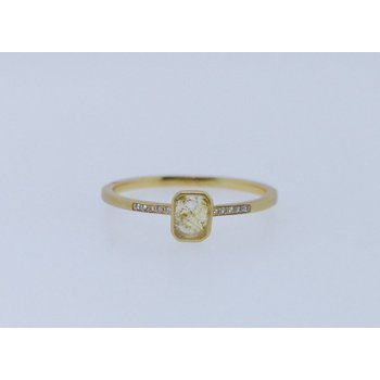 Blockette Rose Cut Diamond Ring