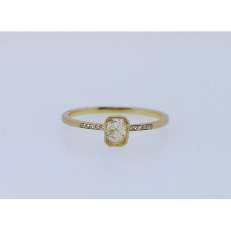 Jennifer Dawes Design Blockette Rose Cut Diamond Ring
