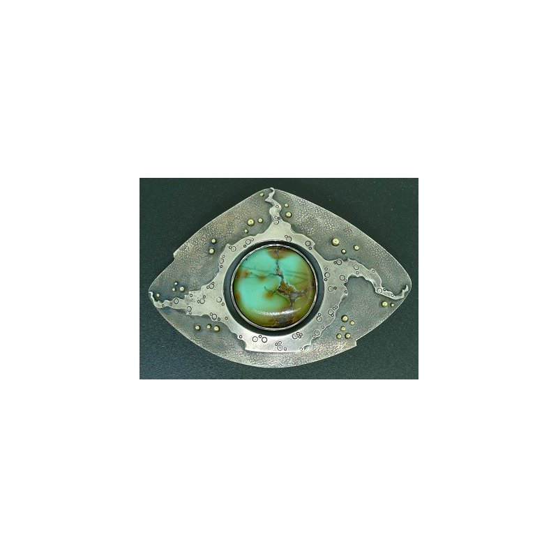 Richard Kimball Turquoise & Granule Belt Buckle