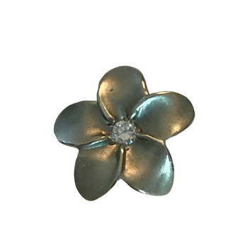 Diamond Plumeria Flower Pendant
