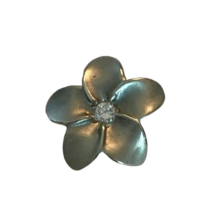 Antique, Estate & Consignment Diamond Plumeria Flower Pendant