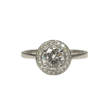 Halo Engagement Ring R2622