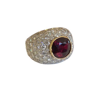 Thai Ruby & Diamond Ring - With GIA Origin Report