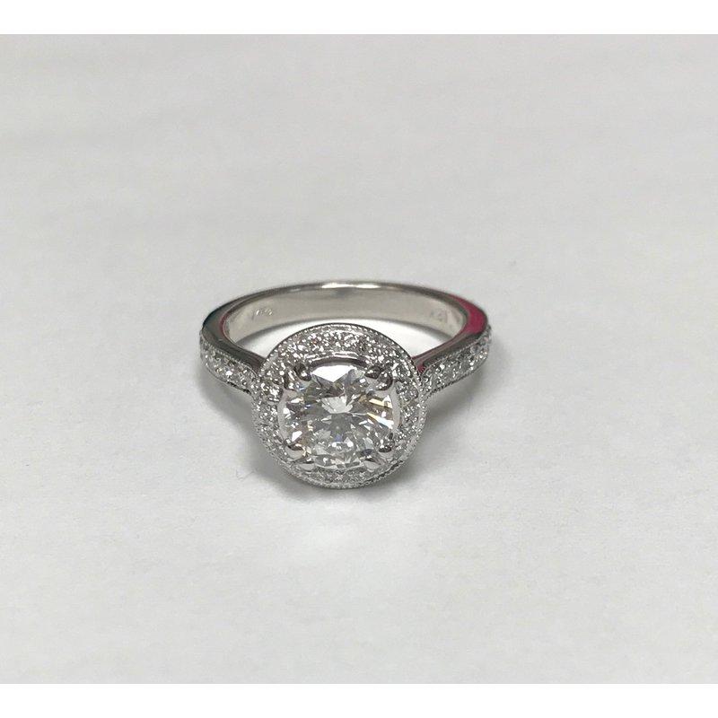 Antique, Estate & Consignment 18k Diamond Halo Engagement Ring