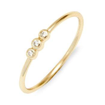 Three Bezel Ring