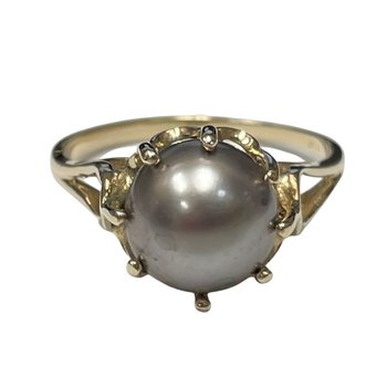 Cultured Gray Pearl Ring