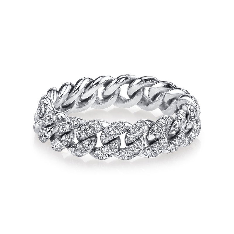 Shay Pave Chain Link Ring