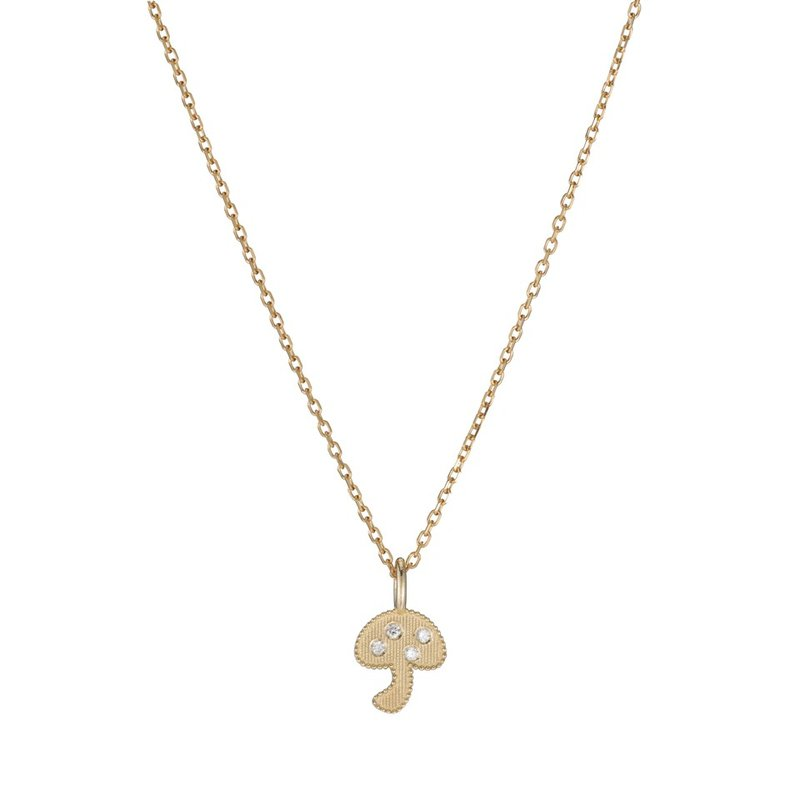 Jennie Kwon Beaded Diamond Mushroom Necklace