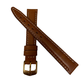 Brown Leather 14mm Watch Strap