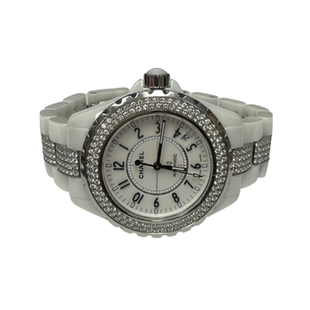Chanel J12 Diamond White Ceramic Watch