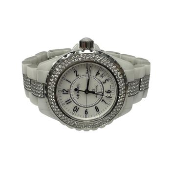 Chanel J12 Diamond White Ceramic Watch