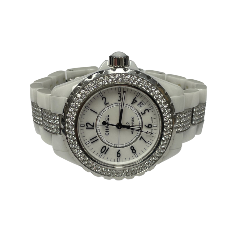 Antique, Estate & Consignment Chanel J12 Diamond White Ceramic Watch