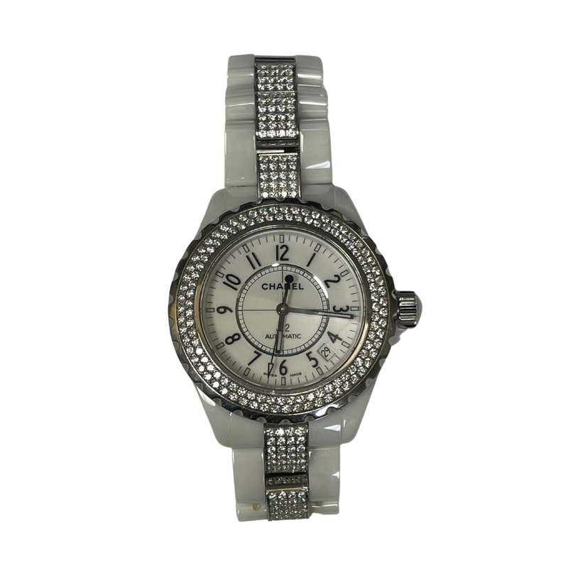 Antique, Estate & Consignment Chanel J12 Diamond White Ceramic Watch