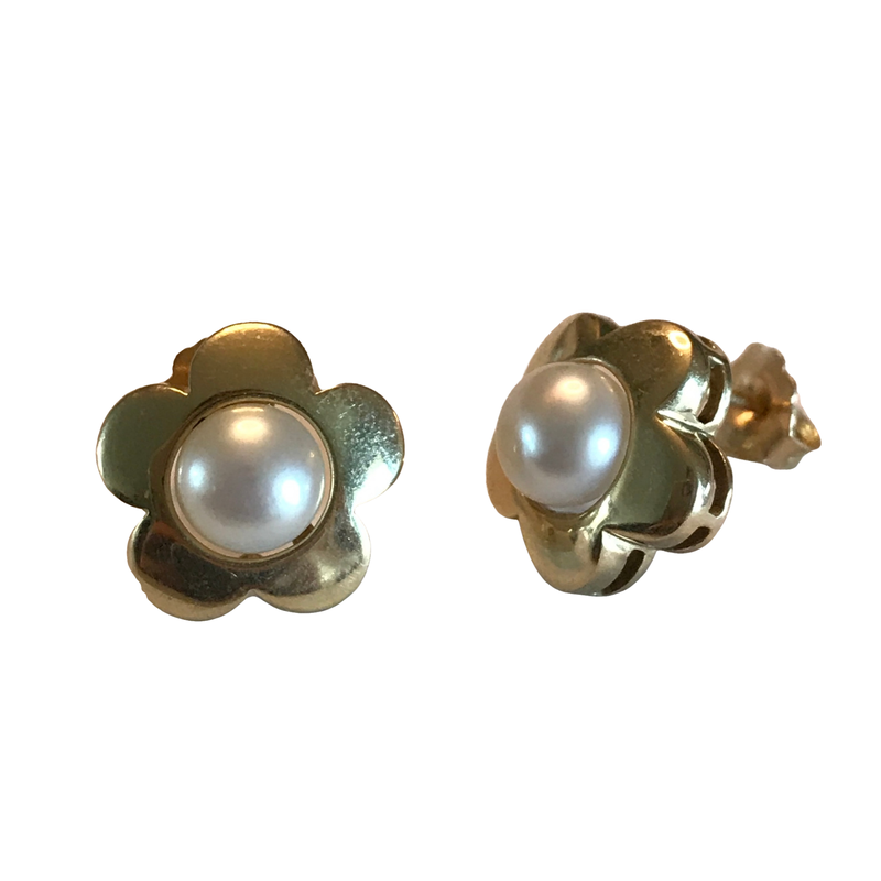 Antique, Estate & Consignment Flower Pearl Earrings
