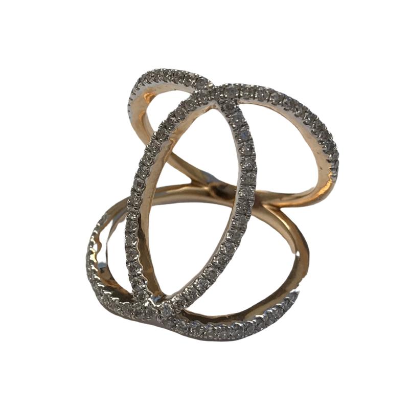 Antique, Estate & Consignment Diamond Crossover Ring