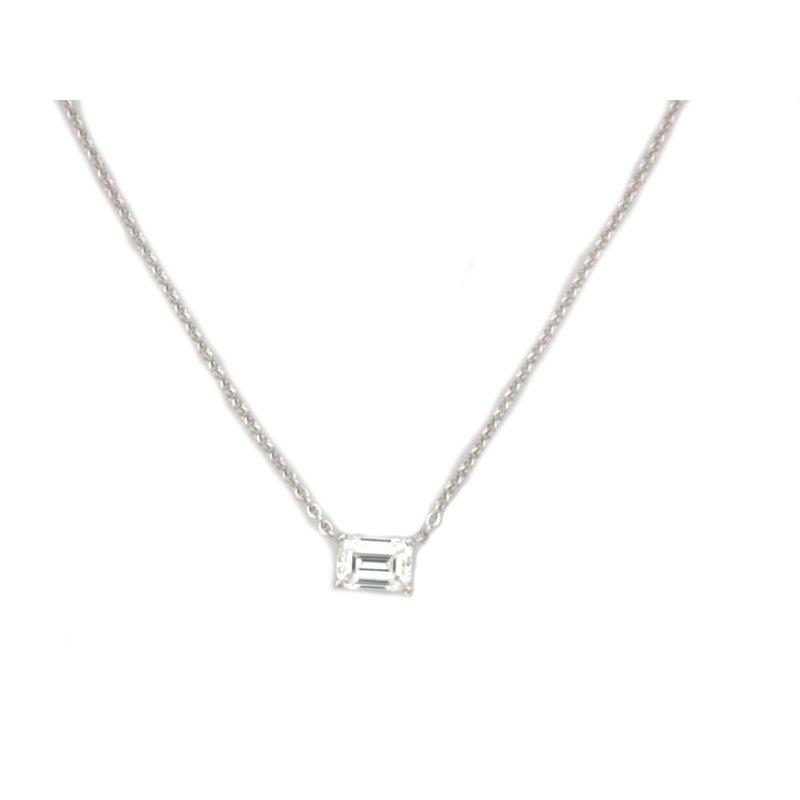 Antique, Estate & Consignment Emerald Cut Diamond Necklace