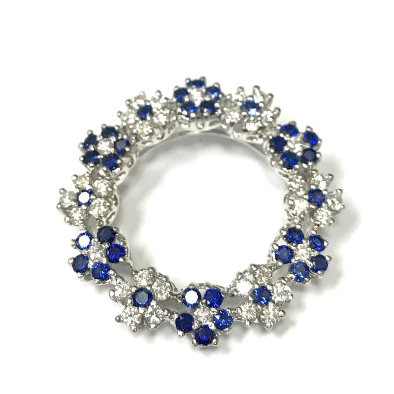 Antique, Estate & Consignment Diamond & Sapphire Circle Brooch/Pendant