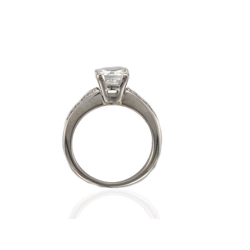 Antique, Estate & Consignment Platinum Princess Cut Diamond Engagement Ring