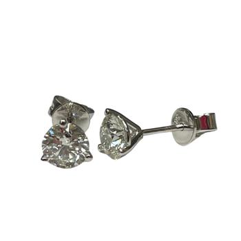1.01 Carat Diamond Stud Earrings