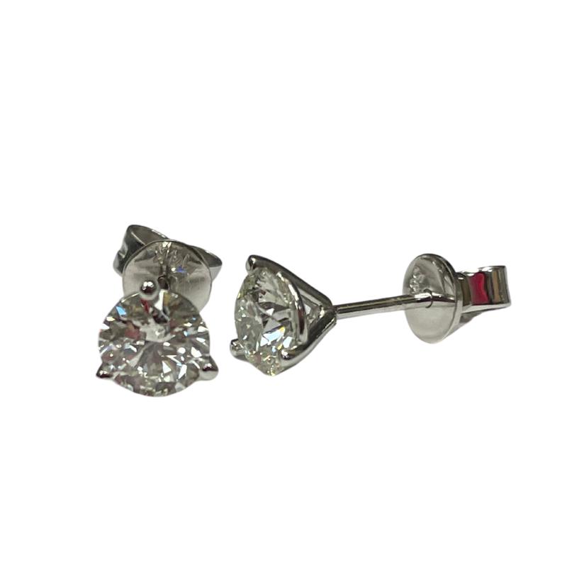 Hurdle's Jewelry Collection 1.01 Carat Diamond Stud Earrings