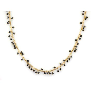 Black Diamond Briolette Necklace