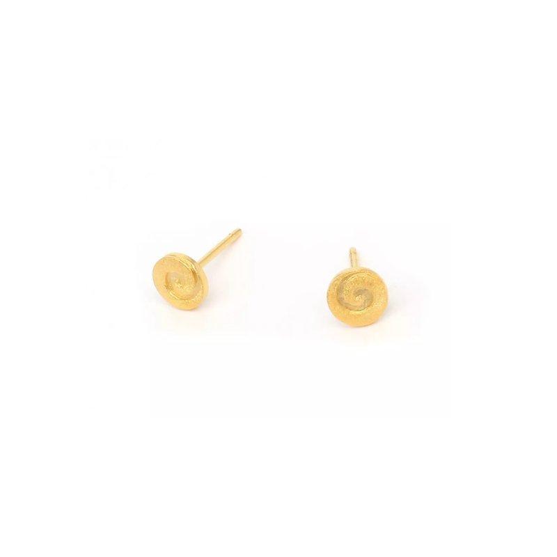 Bernd Wolf Korini Gold Plated Swirl Earrings
