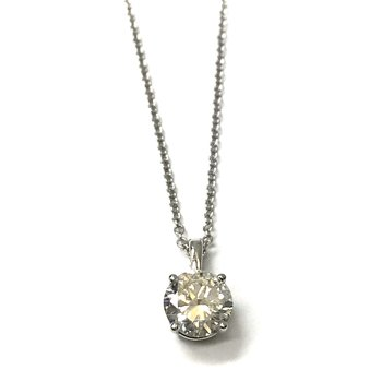 1.32 Transitional Cut Solitaire Necklace