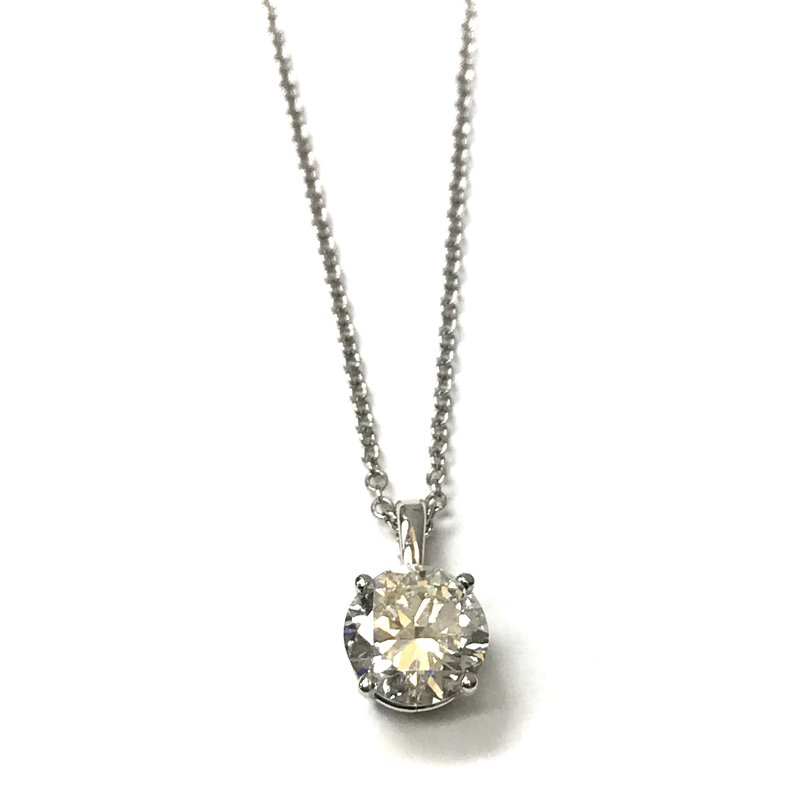 Hurdle's Jewelry Collection 1.32 Transitional Cut Solitaire Necklace