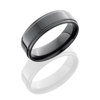 Zirconium Flat Band with Grooved Edges