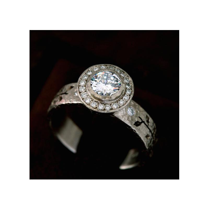 Yasuko Azuma Jewelry Leaf Diamond Engagement Ring