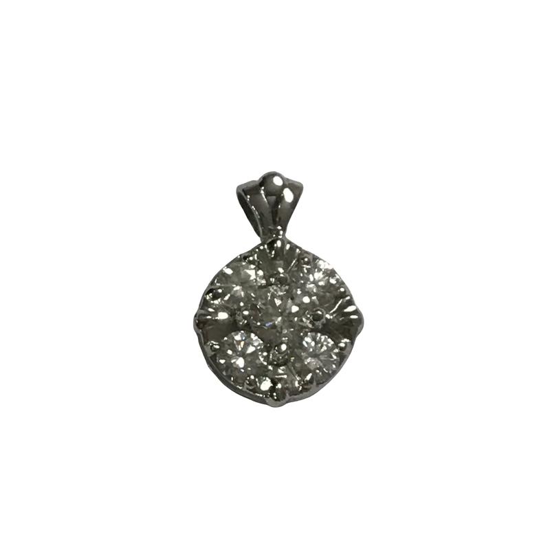 Antique, Estate & Consignment Cluster Diamond Pendant