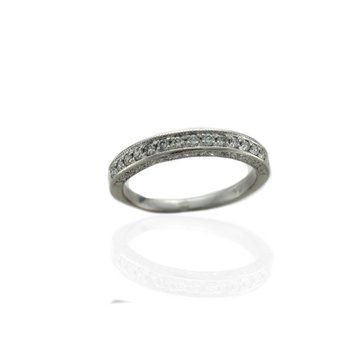 Diamond Band with Engraving