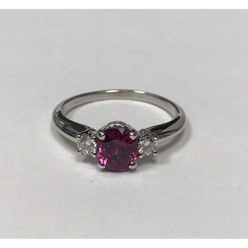 Antique, Estate & Consignment Ruby & Diamond Three Stone Ring