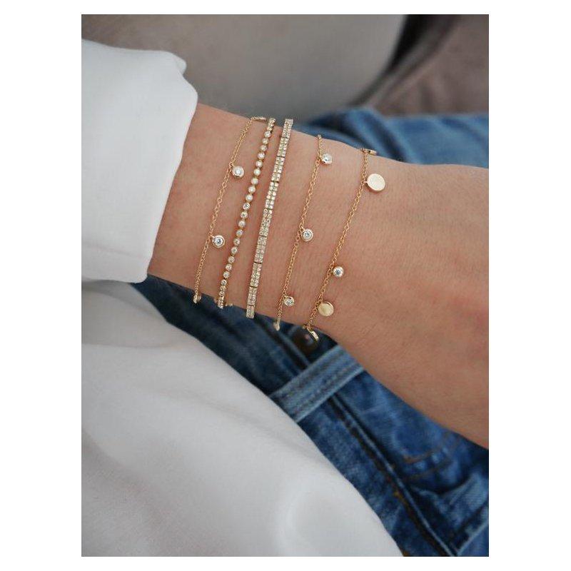 EF Collection Diamond 5 Bezel Chain Bracelet